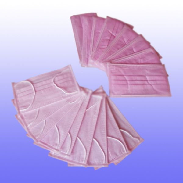 Khẩu trang Mini-Pro 3 lớp màu hồng