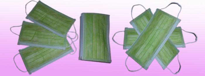 Khẩu trang Mini-Pro 3 lớp màu xanh lá