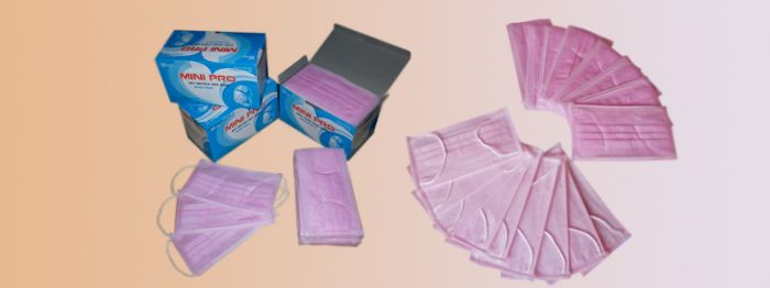 Khẩu trang Mini-Pro 4 lớp kháng khuẩn màu hồng