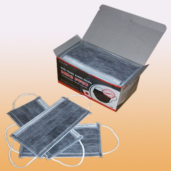 Khẩu trang Mini-Pro 4 lớp tiệt trùng kháng khuẩn màu đen