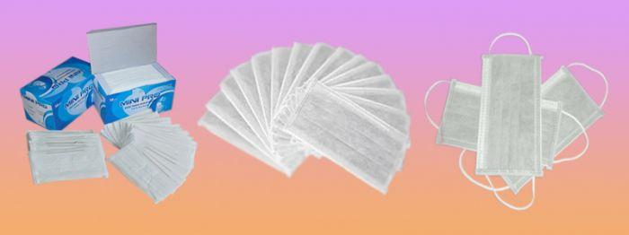 Khẩu trang Mini-Pro 3 lớp màu trắng