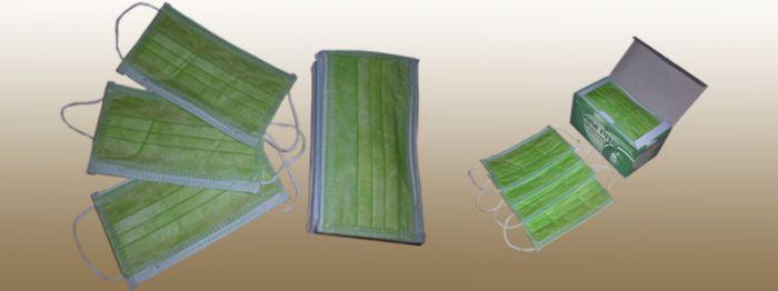 Khẩu trang Mini-Pro 4 lớp kháng khuẩn màu xanh lá