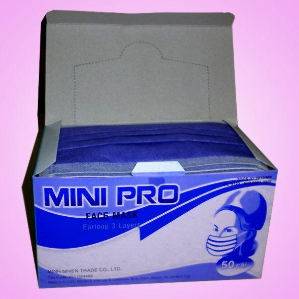 Khẩu trang Mini Pro 3 lớp màu tím