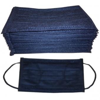 Khẩu trang màu đen tuyền dây quai đen model Hàn Quốc